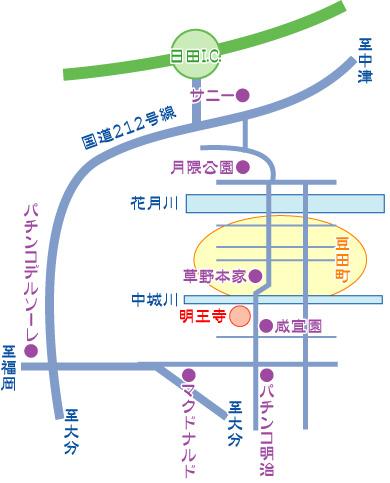 明王寺の地図